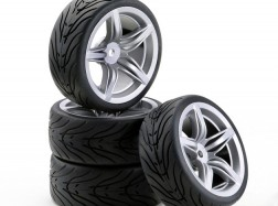 GOMME + CERCHI RACING F12 Silver 4pz