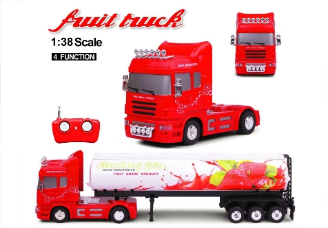 FRUIT TRUCK RC 1:38 CISTERNA Fragola 27Mhz