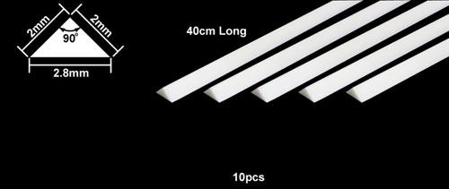 PLASTIC BEAMS PROFILO TRIANGOLARE 2mm (10)
