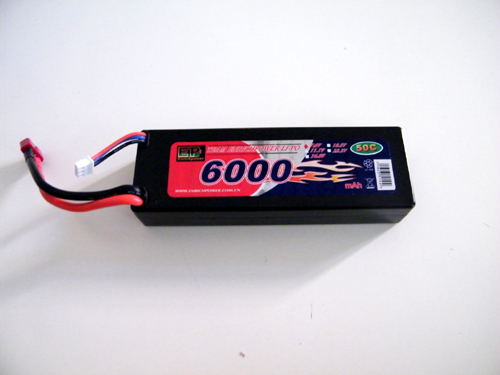BATTERIA LiPo 7,4V 6000mAh HARD CASE 50C
