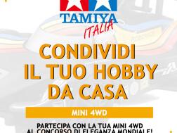 Mini4WD: concorso Tamiya 'CONDIVIDI IL TUO HOBBY DA CASA'